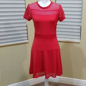Michael Kor's M Coral Dress. Short sleeve.